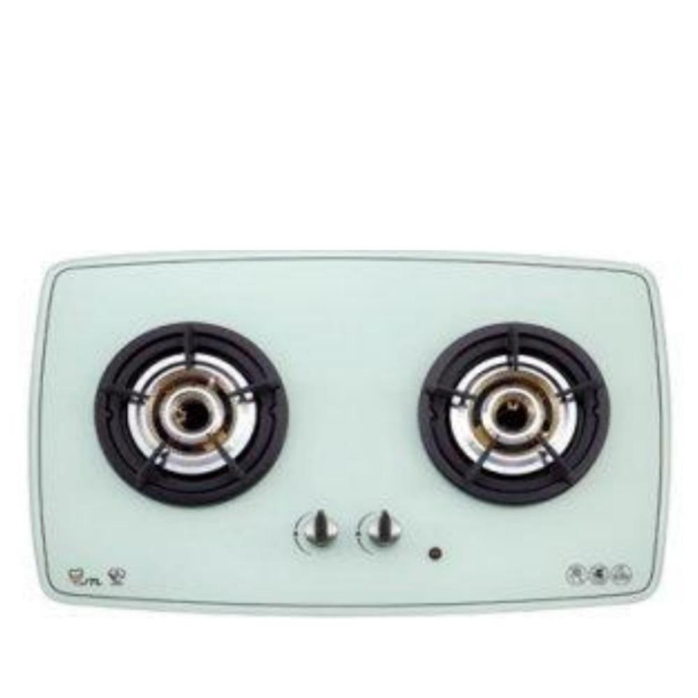 (全省安裝)喜特麗二口玻璃檯面爐內焰式白色(與JT-2208A同款)瓦斯爐天然氣JT-2208AW_NG1