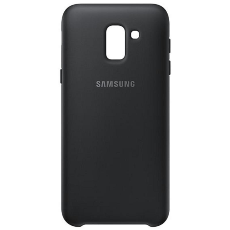 SAMSUNG Galaxy J6薄型透明背蓋-PC及TPU混和 黑色