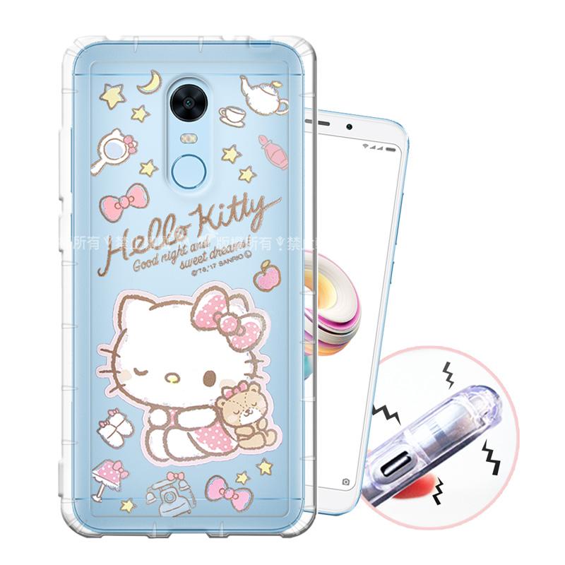 三麗鷗授權 Hello Kitty凱蒂貓 紅米5 Plus 甜蜜系列彩繪空壓殼(小熊)