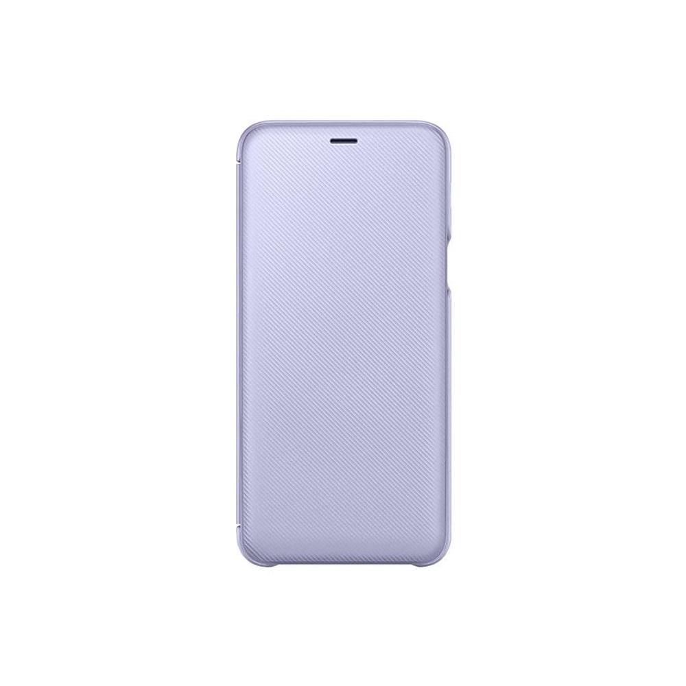 SAMSUNG Galaxy A6+翻頁式皮套 紫色