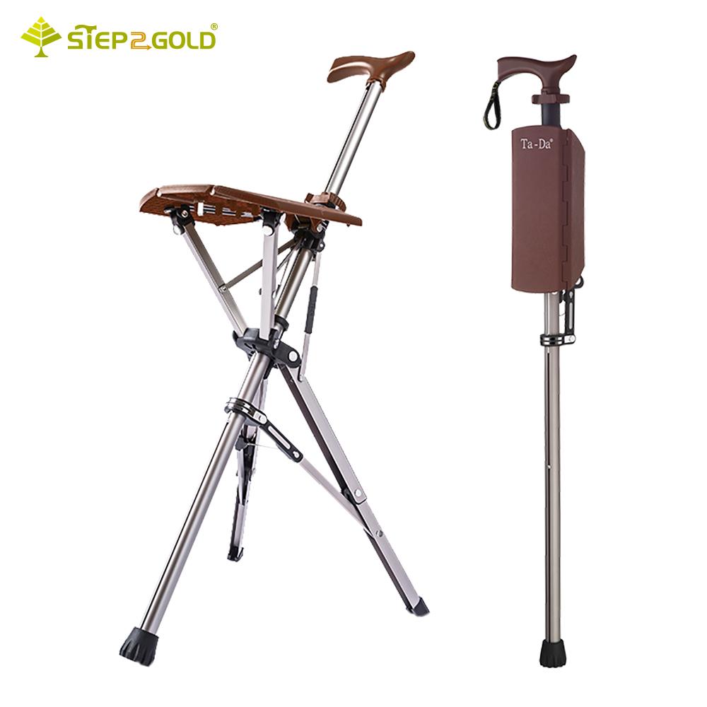 【Ta-Da】經典款泰達椅 自動手杖椅-咖啡棕