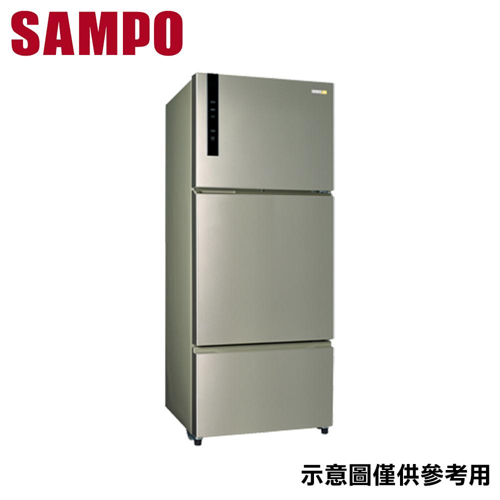 原廠好禮送【SAMPO聲寶】580公升 變頻三門冰箱 SR-B58DV(Y6)