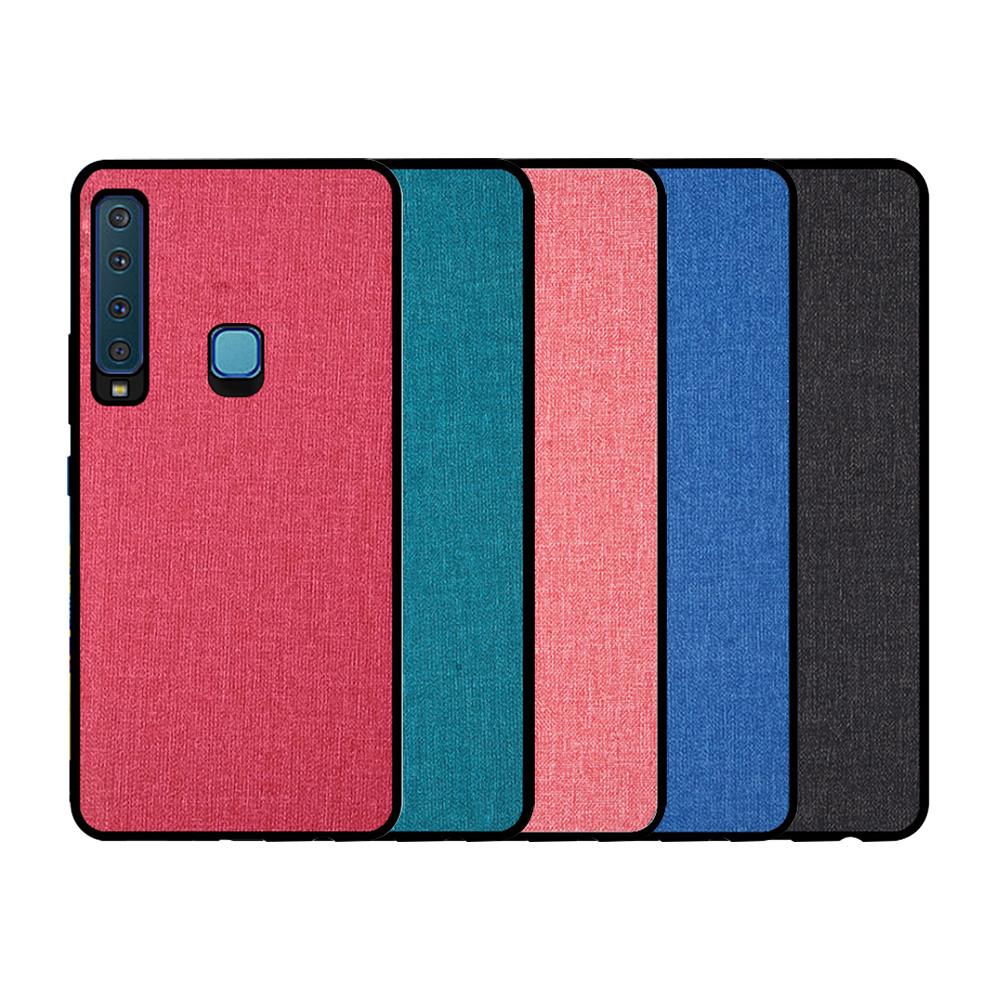 QinD SAMSUNG Galaxy A9(2018) 布藝保護套(格調藍)