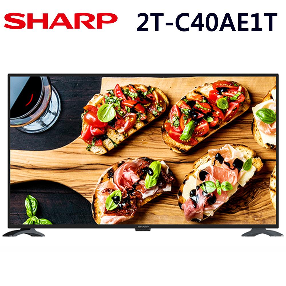SHARP夏普 40吋 FHD 智慧連網液晶顯示器(2T-C40AE1T)