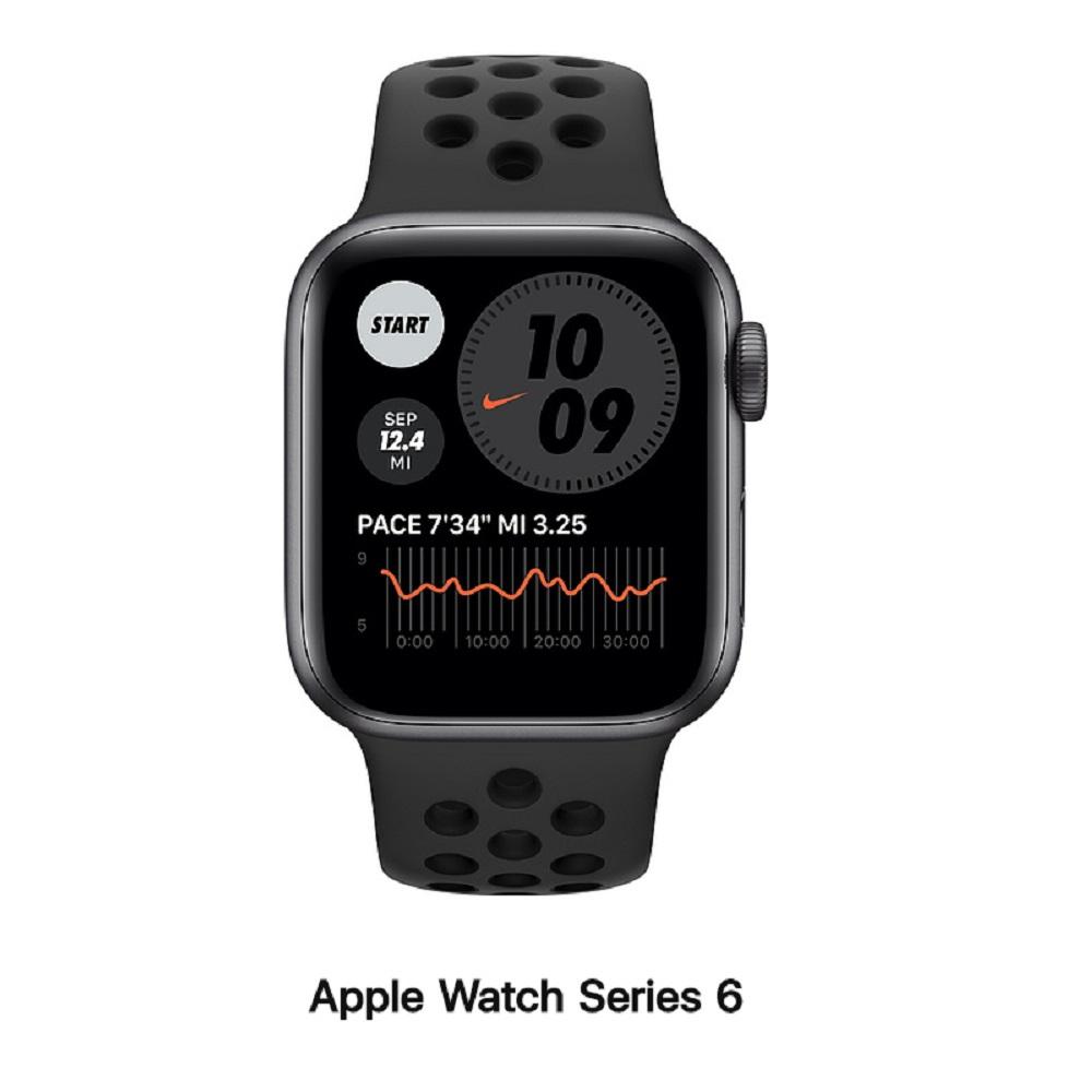 【血氧檢測】Apple Watch S6 Nike+ 44mm GPS版 太空灰鋁錶殼配黑運動錶帶(MG173TA/A)