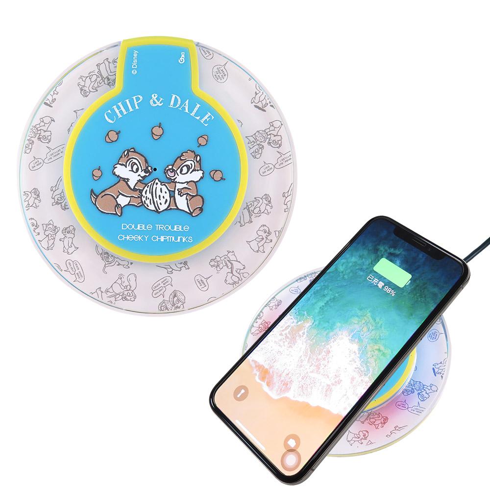 Disney迪士尼 奇奇蒂蒂 透明水晶無線充電座/充電板