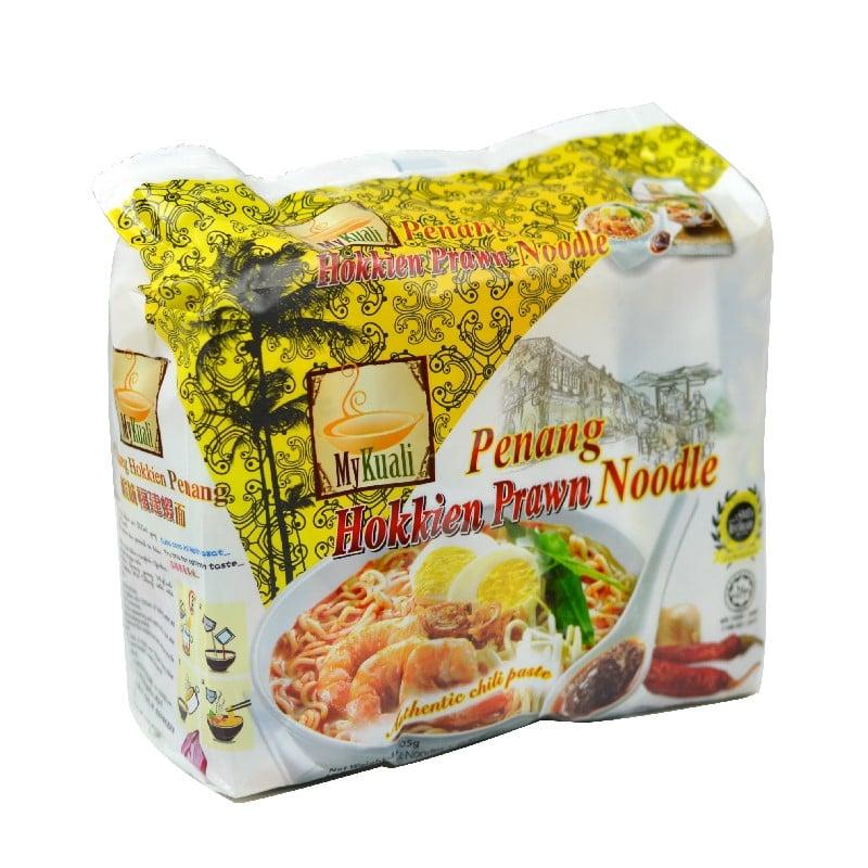 馬來西亞Mykuali檳城蝦味湯麵105G(4包/袋)*4組