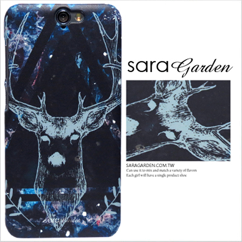 【Sara Garden】客製化 手機殼 蘋果 iphone7plus iphone8plus i7+ i8+ 銀河 三角 圖騰 鹿角 保護殼 硬殼