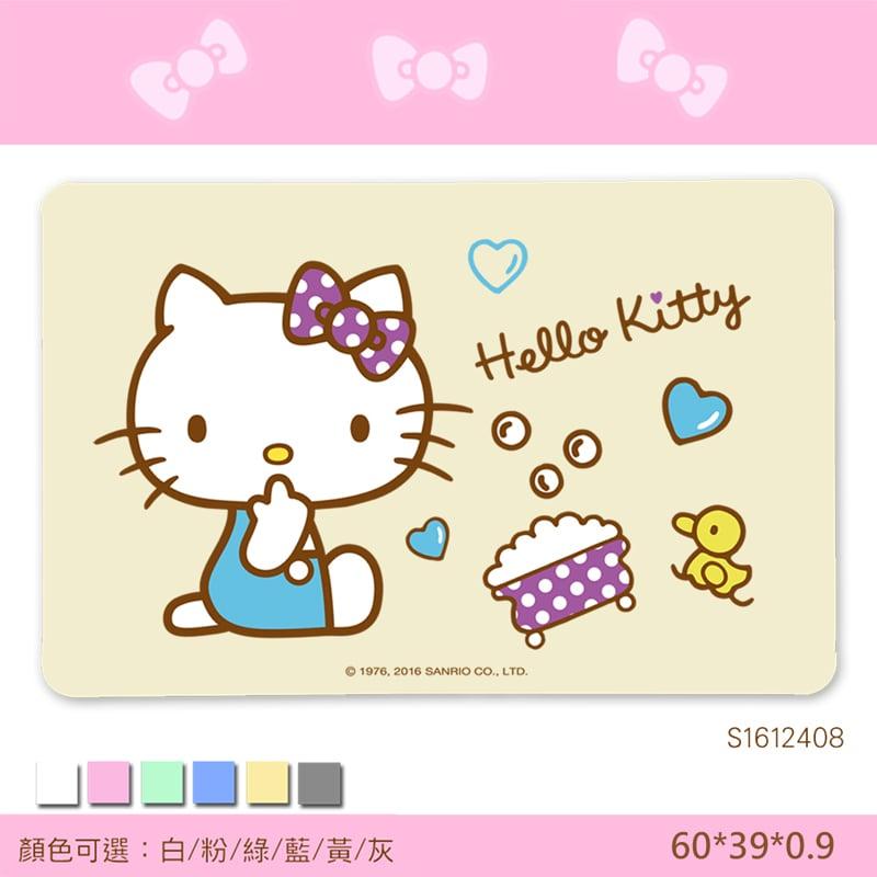 【三麗鷗獨家授權】Hello Kitty珪藻土吸水地墊//歡樂澡堂-黃