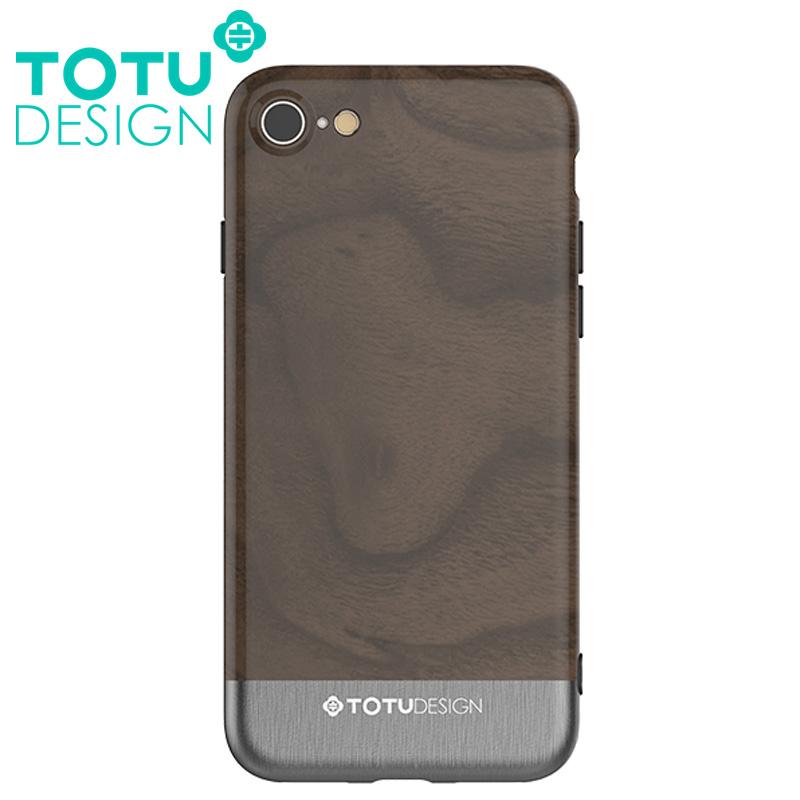 【TOTU台灣官方】悅木系列 iPhone 8 7 i8 i7 手機殼 四角 全包 軟殼 保護套 掛繩孔 灰色胡桃木