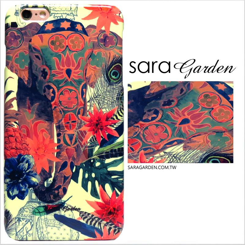 【Sara Garden】客製化 手機殼 HTC 816 曼谷 民族風 大象 手工 保護殼 硬殼 限定