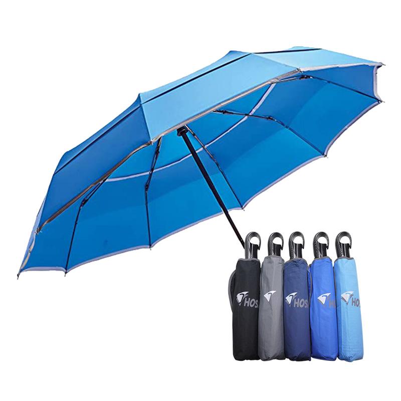 【HOSA】雙反光大傘面自動傘-寶藍