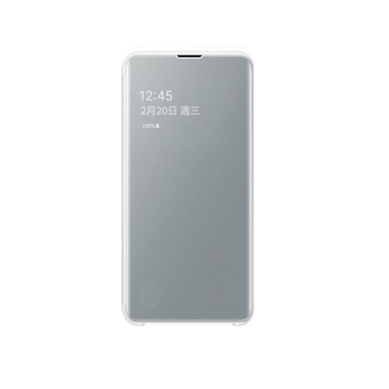 SAMSUNG Galaxy S10e全透視感應皮套 白