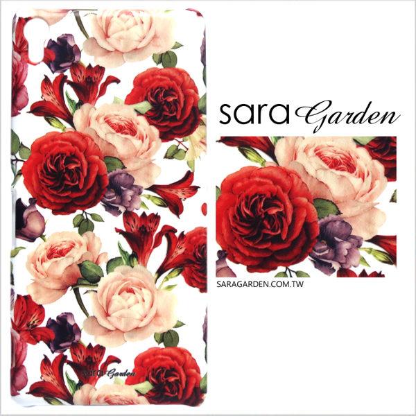 【Sara Garden】客製化 手機殼 HTC 816 水彩 玫瑰 碎花 綻放 保護殼 硬殼
