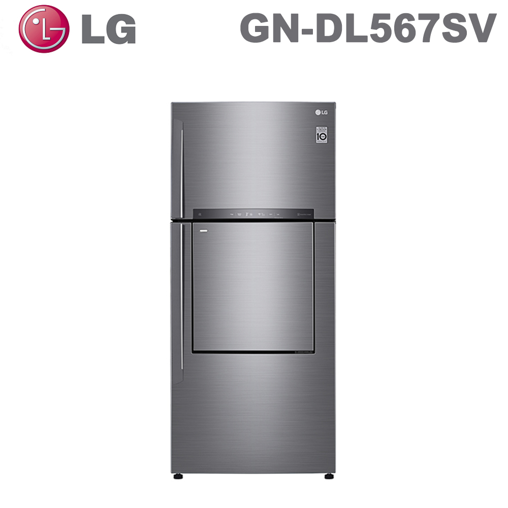 原廠好禮送★【LG 樂金】525公升直驅變頻上下門冰箱GN-DL567SV