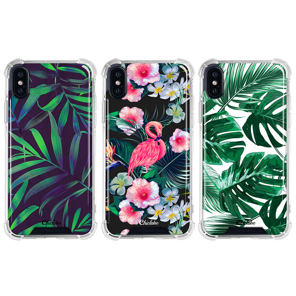 Chiclobe Apple iPhone Xs Max 反重力防摔殼 - 植物系列(夜花火鶴)
