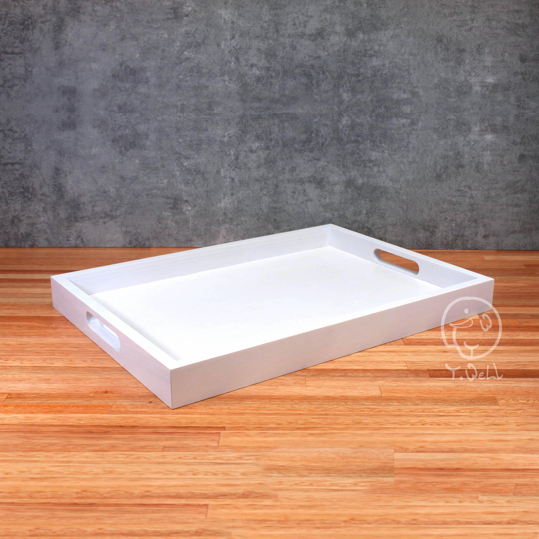 梣木托盤 (大) 白色