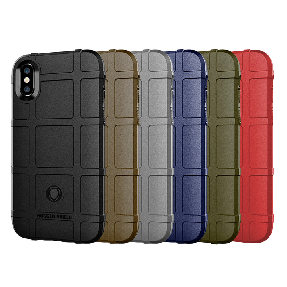 QinD Apple iPhone X/Xs 戰術護盾保護套(軍綠)