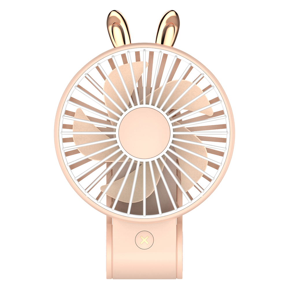 【超萌款】手持可掛可立多功能風扇P23(270度調整風位)粉色