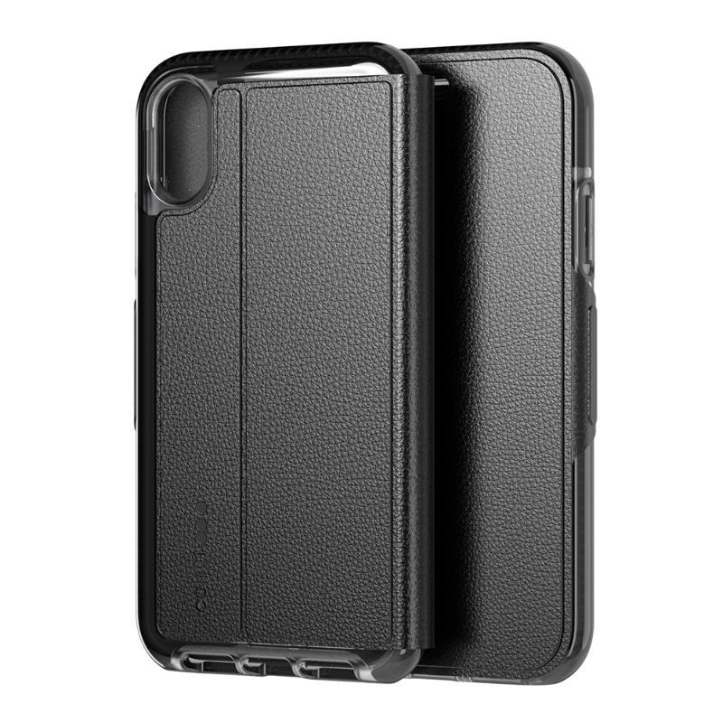 Tech 21超衝擊EVO WALLET防撞軟質保護皮套 iPhoneXs Max 黑