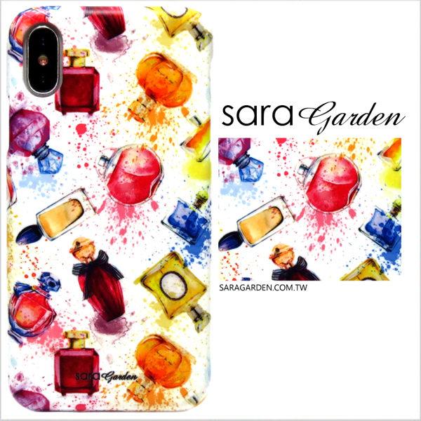 【Sara Garden】客製化 手機殼 蘋果 iphoneX iphone x 水彩香水 曲線 手工 保護殼 硬殼