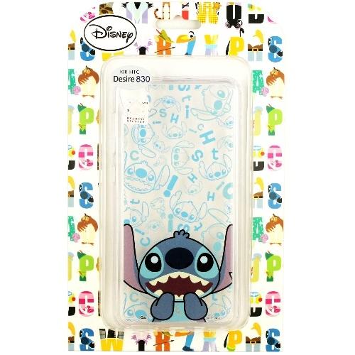 【Disney】HTC Desire 830 / D830x 摀嘴系列 彩繪透明保護軟套(史迪奇)