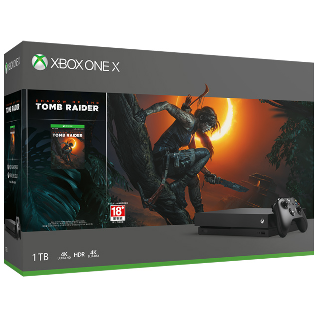 Xbox One X 1TB 古墓奇兵:暗影 同捆組
