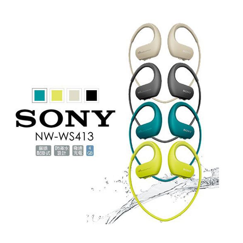【SONY 索尼】 NW-WS413 MP3 運動耳機 內建4G 藍色