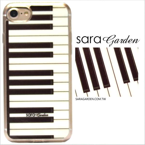 【Sara Garden】客製化 軟殼 蘋果 iPhone7 iphone8 i7 i8 4.7吋 手機殼 保護套 全包邊 掛繩孔 鋼琴鍵盤