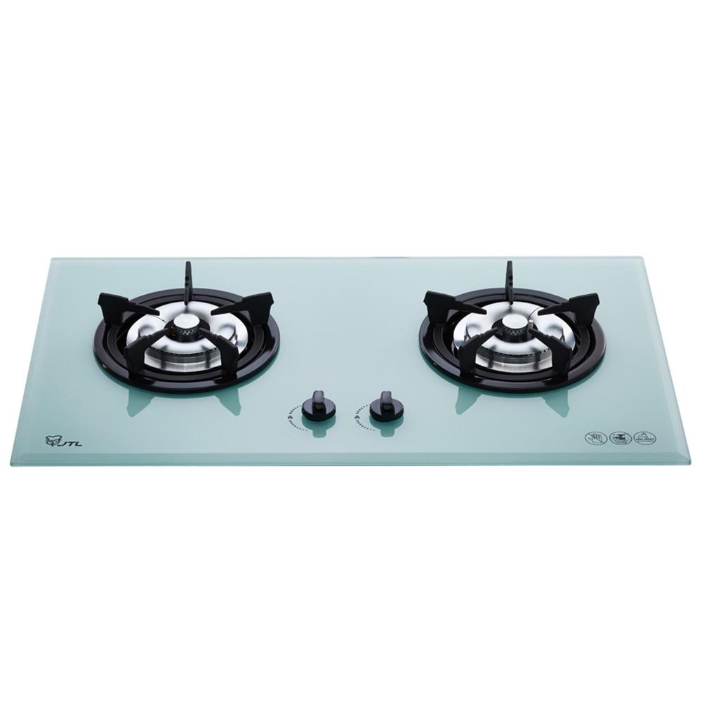 (全省安裝)喜特麗二口爐檯面爐玻璃白色(與JT-2009A同款)瓦斯爐天然氣JT-2009AW_NG1