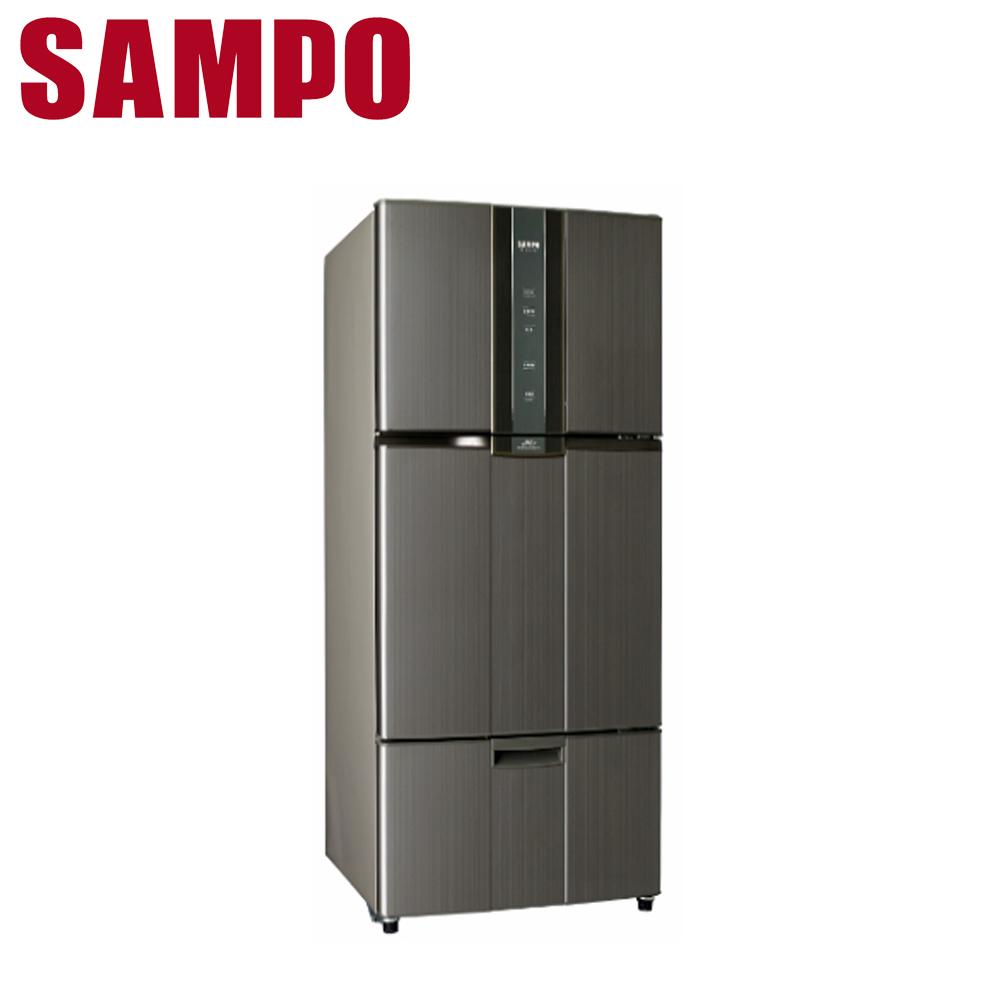 好禮送【SAMPO 聲寶】580公升變頻三門冰箱SR-A58DV(K2)