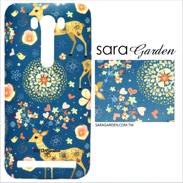 【Sara Garden】客製化 手機殼 蘋果 iPhone 6plus 6SPlus i6+ i6s+ 手工 保護殼 硬殼 手繪碎花梅花鹿