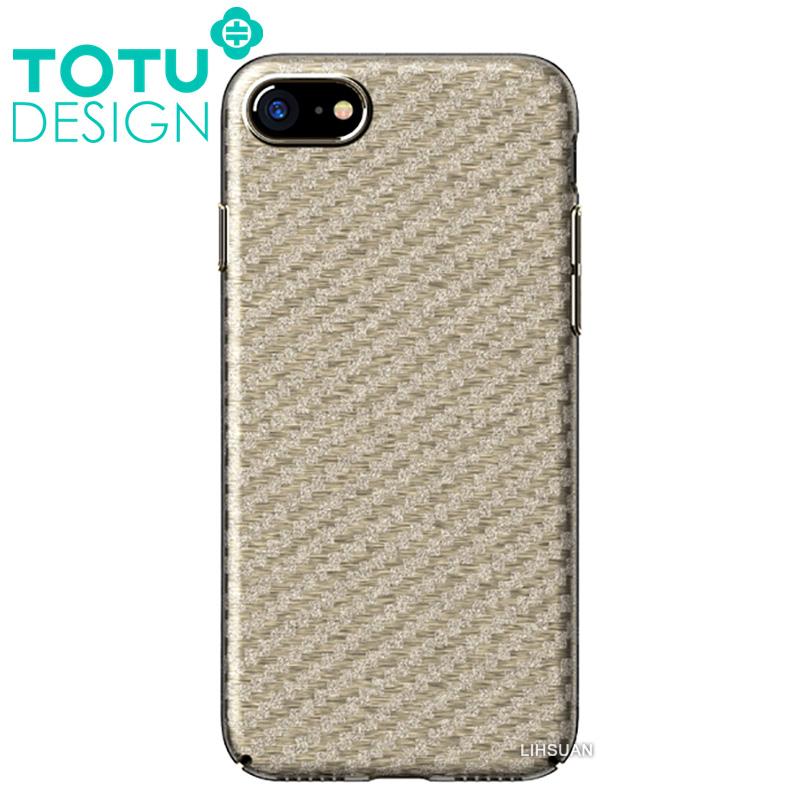 【TOTU台灣官方】iPhone8碳纖紋手機殼 雅典娜系列 金色