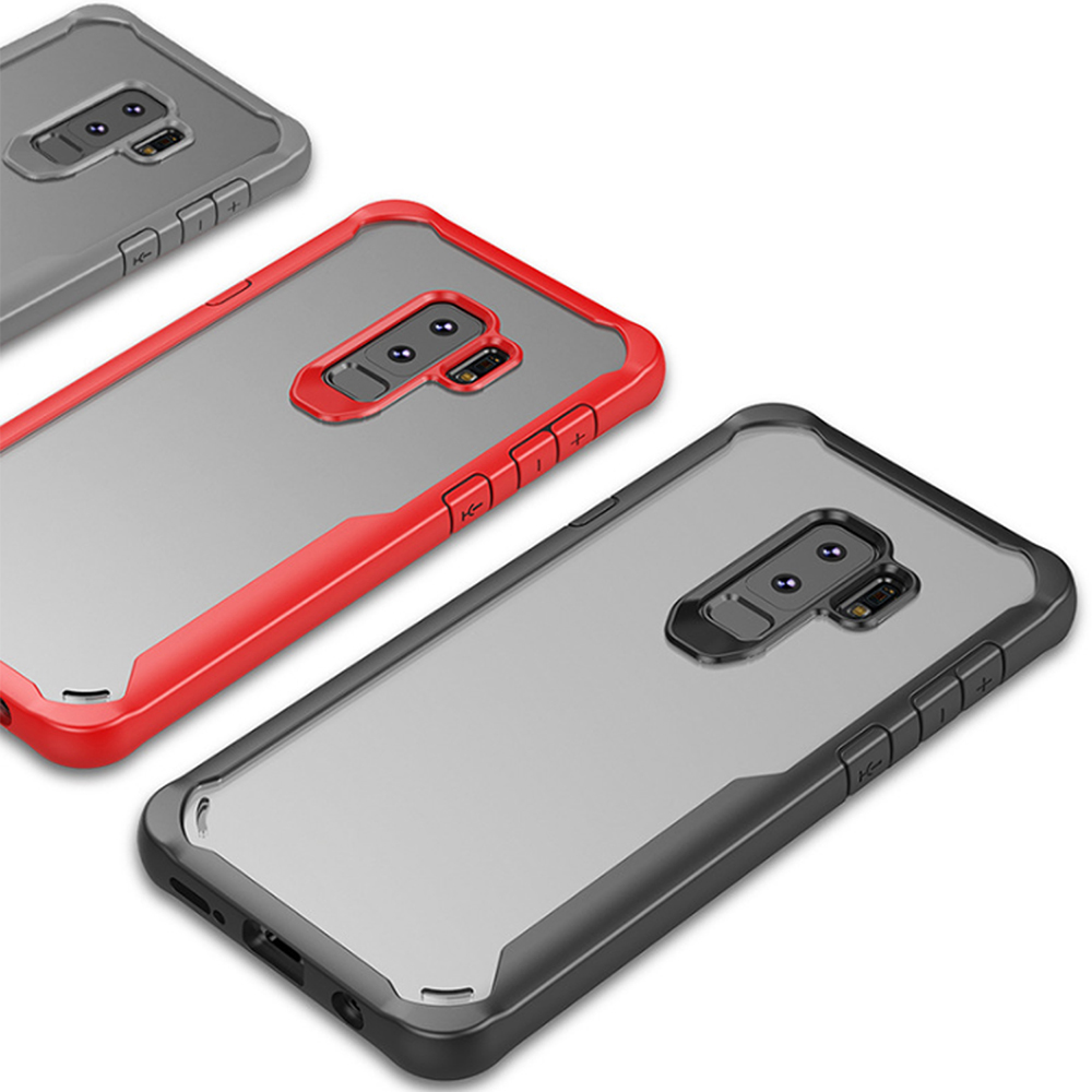 QinD SAMSUNG Galaxy S9+ 簡約防摔套(黑色)