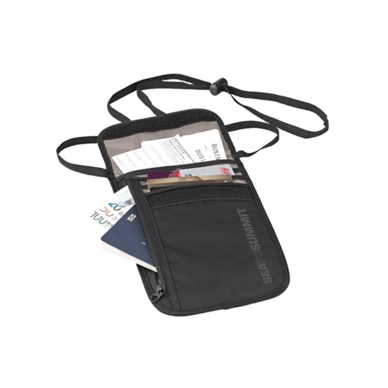 【Sea To Summit】旅行用頸掛式證件袋(5袋口) -黑/淺灰