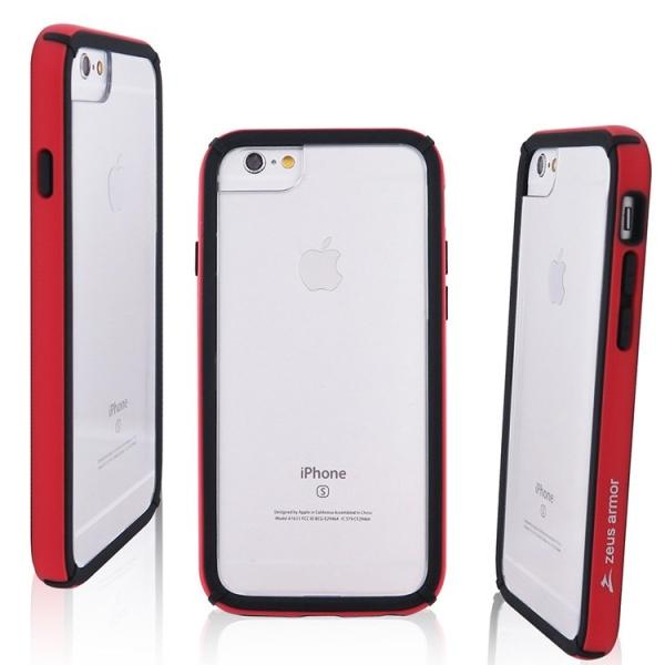 iPhone 6/ 6S/ 7/ 8 Plus (5.5吋) 波塞頓系列 耐撞擊雙料防摔殼(紅色)