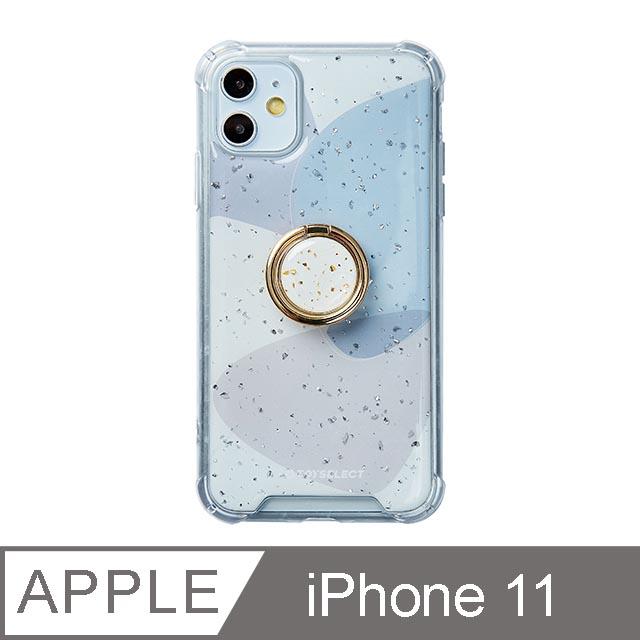 iPhone 11 6.1吋 風雅紫秘氣墊iPhone防摔殼 附贈同款電鍍指環支架