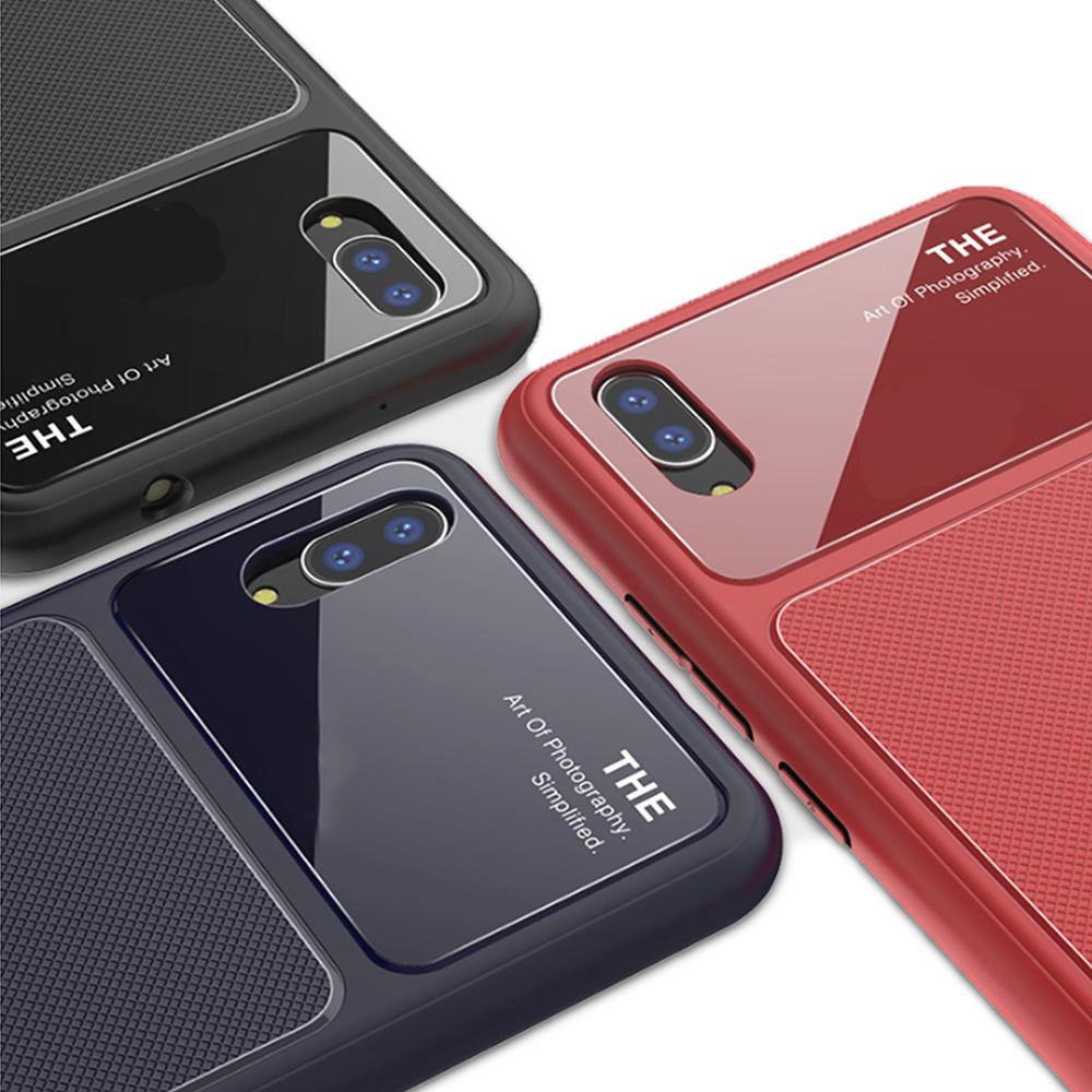 QinD vivo X21 UD(螢幕指紋版) 爵士玻璃手機殼(藍色)