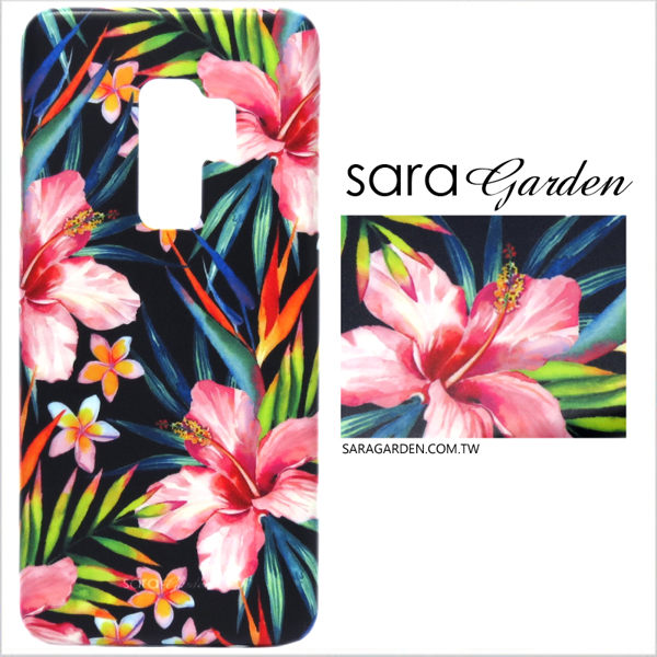 【Sara Garden】客製化 手機殼 Samsung 三星 Note8 扶桑花碎花 保護殼 硬殼