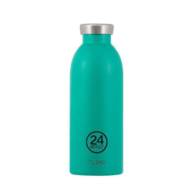 義大利 24Bottles Clima不銹鋼雙層保溫瓶 500ml - 海灣藍