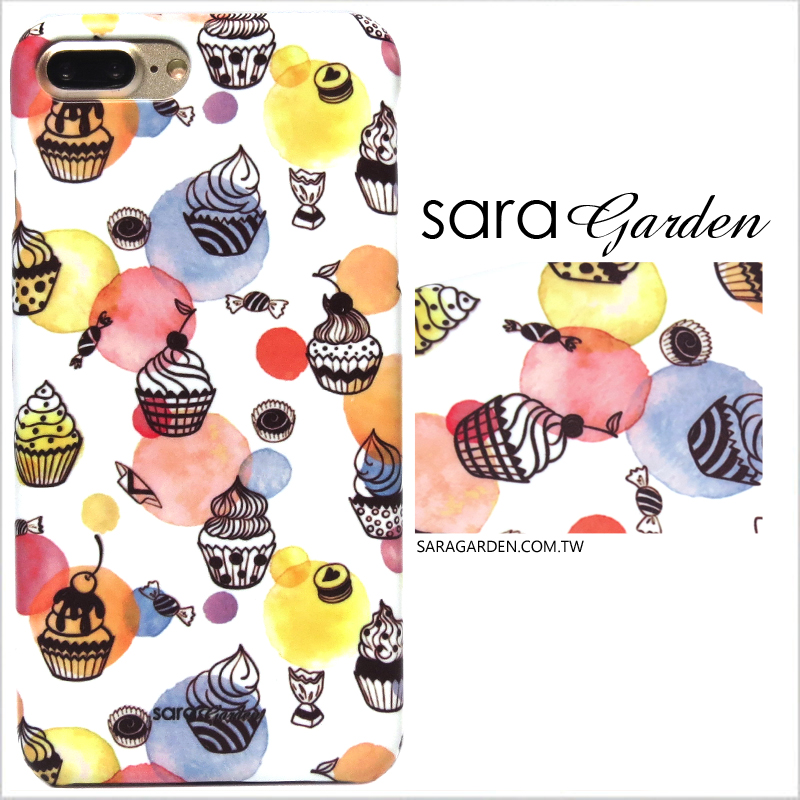 【Sara Garden】客製化 手機殼 蘋果 iphoneX iphone x 水玉圓點甜點 手工 保護殼 硬殼