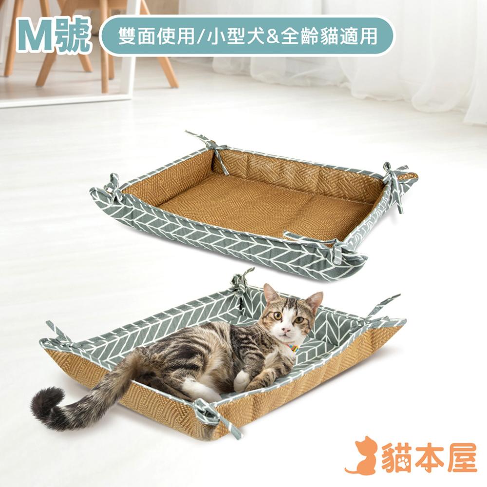 貓本屋 雙面使用 寵物涼蓆墊(M號/60x50cm)