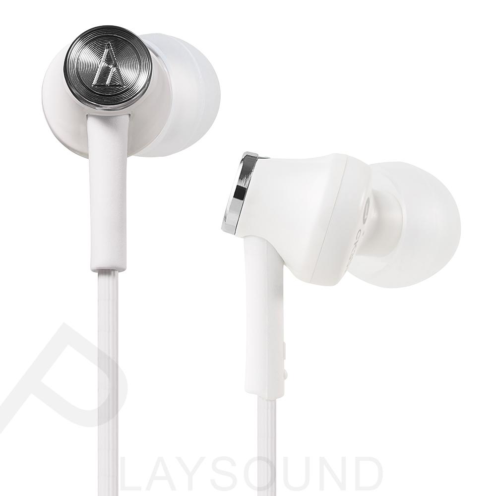鐵三角 ATH- CK350M (WH) 白色 耳道式耳機