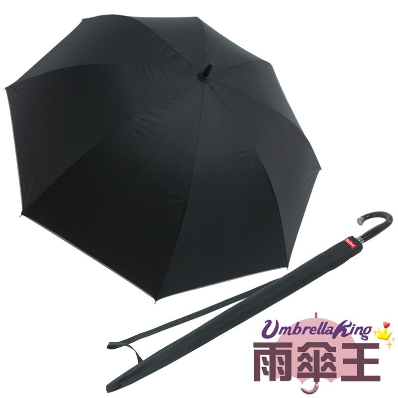 【雨傘王】BigRed頂天高爾夫-黑色《30吋超大傘面》(終身免費維修)