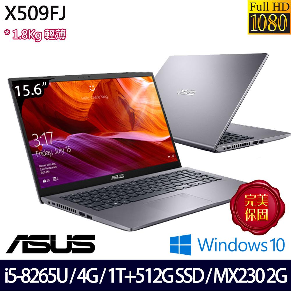 【硬碟升級】《ASUS 華碩》X509FJ-0111G8265U(15.6吋FHD/i5-8265U/4G/1T+512G SSD/MX230/Win10)