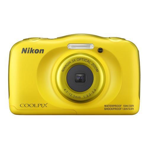 NIKON COOLPIX W100 - 黃色 送32G記憶卡+專用電池+清潔組+螢幕保護貼+讀卡機+小腳架 數位相機(公司貨)