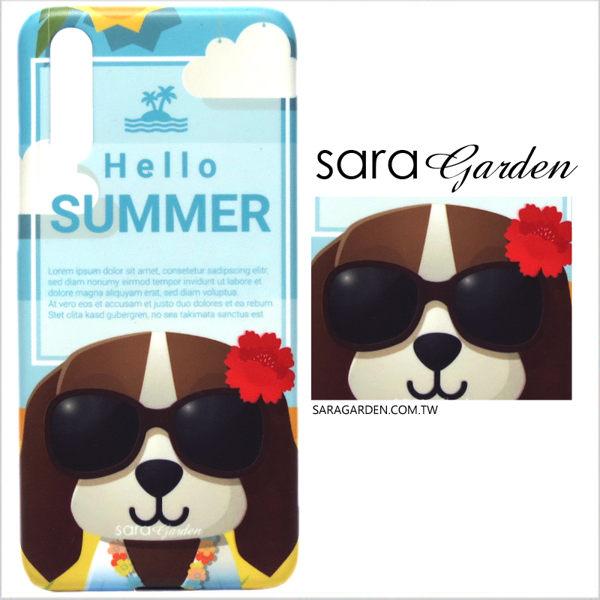 【Sara Garden】客製化 手機殼 HUAWEI 華為 P30 Pro 保護殼 硬殼 插畫夏威夷狗狗