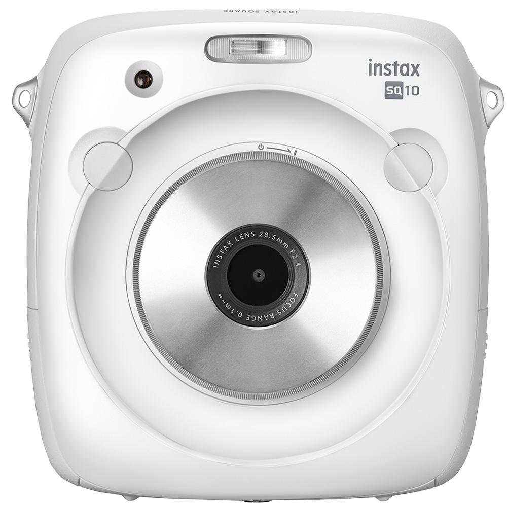 FUJIFILM instax SQUARE SQ10 方形拍立得相機(公司貨)/白色-送專用底片(3盒)+專用電池NP-50