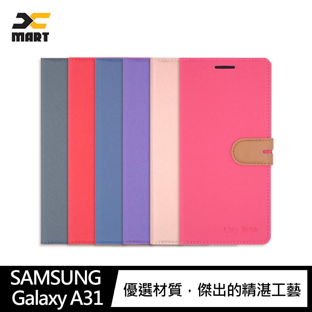 CITY BOSS SAMSUNG Galaxy A31 側掀可立皮套(紫色)