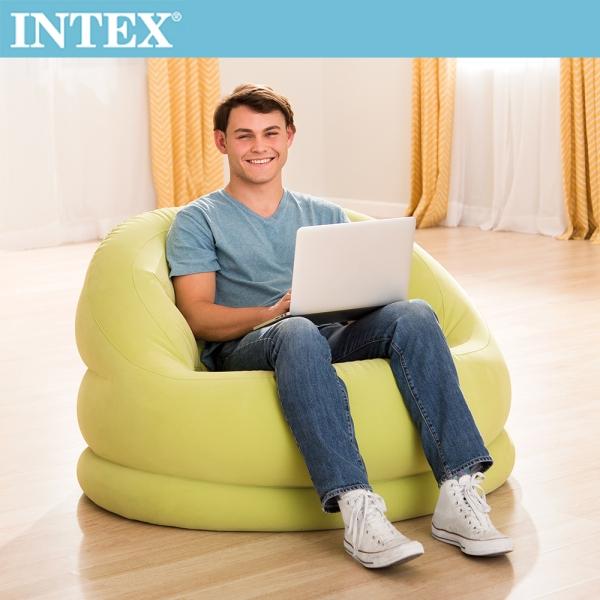 【INTEX】超大貝殻充氣沙發椅-蘋果綠(68577)